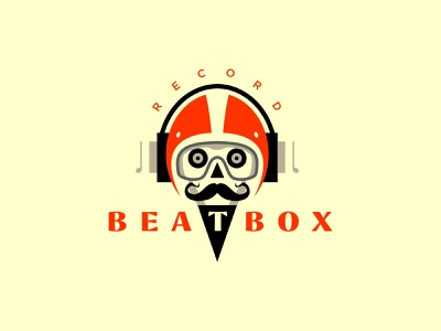 Beatbox record record ui vector illustration logotype logosmyk logodesign design logofolio branding logo