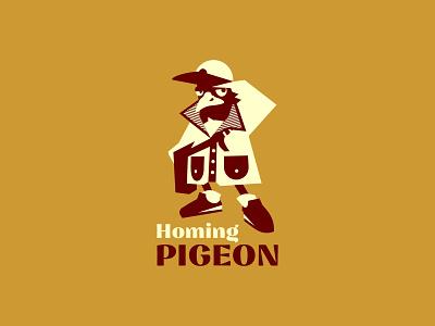 Homing Pigeon shipping company vector ui illustration logotype logosmyk logodesign design logofolio branding logo