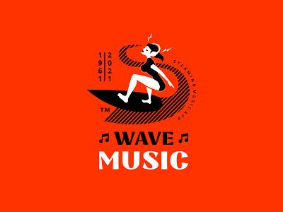 Wave Music steaming symbol mark identity music graphic design logosmyk illustration logotype logodesign logofolio branding logo
