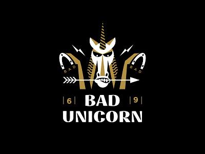 Bad unicorn bad unicorn mark illustration design logosmyk logotype logodesign logofolio branding logo