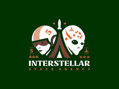 Interstellar interstellar mark illustration design logosmyk logotype logodesign logofolio branding logo