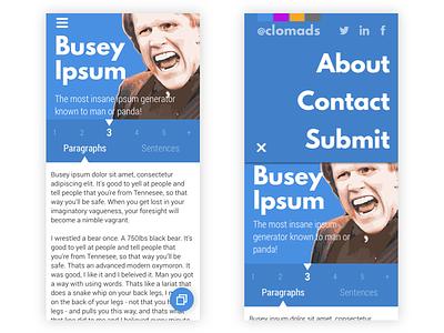 Busey Ipsum Redesign sketch ipsum material web mobile redesign