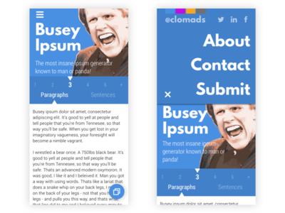 Busey Ipsum Redesign