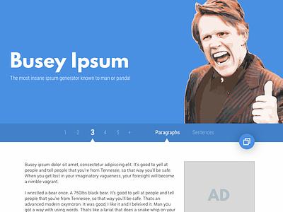 Busey Ipsum Redesign - Desktop sketch ipsum material web mobile redesign