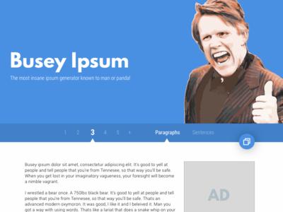 Busey Ipsum Redesign - Desktop