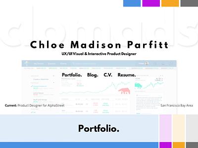 Personal Portfolio - Hero branding sketch mockup opacity transparency header hero update responsive web redesign