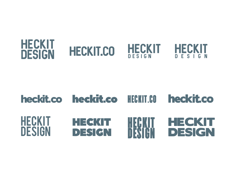 Heckit Design - Typo Logo Playground product retail side project logo playground typography