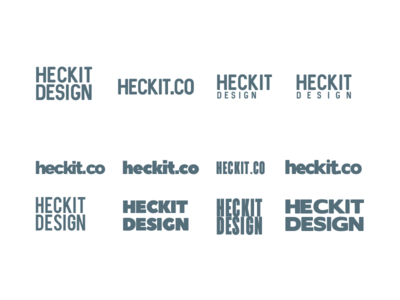 Heckit Design - Typo Logo Playground