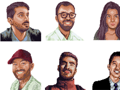 PostHog Pixel Portraits pixel posthog branding