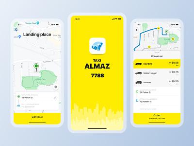 Taxi app car taxi mobile app design ui ux mobile application