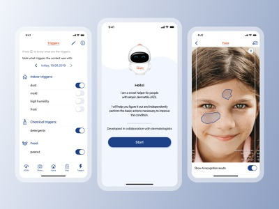 Atopic App medical app telemedicine design ux ui mobile app