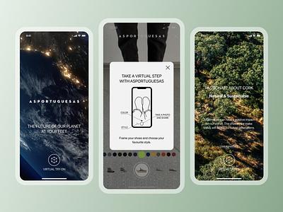 Asportuguesas try on natural fashion ar app eco-friendly design ux ui mobile app