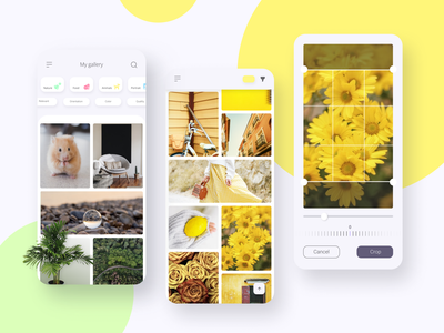 My gallery photos edit crop gallery colors animals mobile uxdesign ux uidesign ui minimal inspiration design app