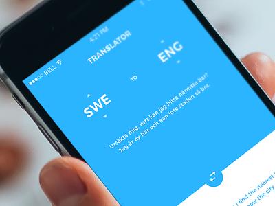 Google Translator • Redesign ui ux translation blue white simple clean google redesign flat