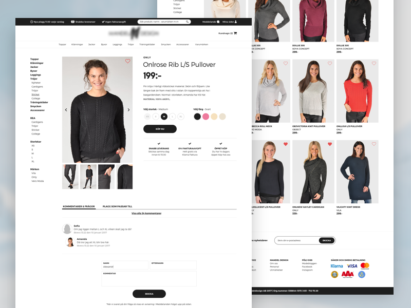 Fashion E-commerce • Webpage minimalistic minimal modern fashion web e-commerce commerce flat webpage