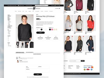 Fashion E-commerce •Webpage minimalistic minimal modern fashion web e-commerce commerce flat webpage