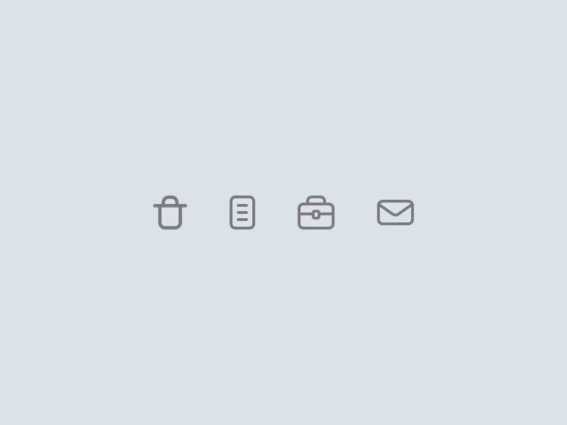 Minimal Icons minimalistic minimal icon kit strokes outlined line icon set icons iconography icon