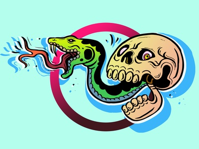 sssssnake candy skull digitalart photoshop color drawing digital illustration artwork design drawing color illustration