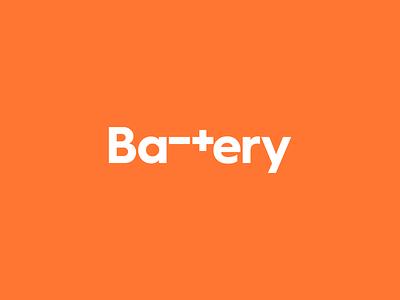 Battery minus plus identity battery branding logo design logo