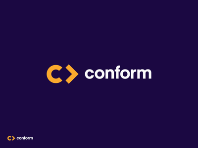 conform forward arrow conform logo design branding identity logo