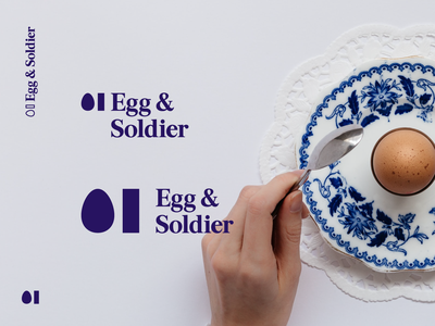 Egg & Soldier pub food chicken eggs and soldiers eggs branding identity logo