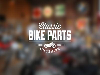 Classic Bike Parts Cheshire bike parts mechanic ecommerce logo branding identity classic wisdom motorbike motorcycles
