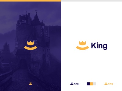 King identity branding brand identity logo smile happy crown logo castle king crown