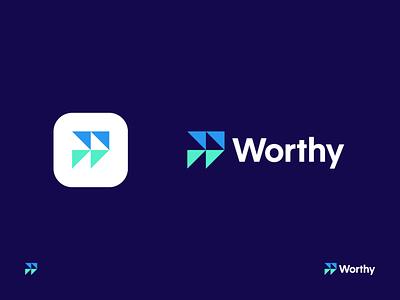 Worthy logo design identity w fast forward brand identity branding logo
