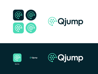 Qjump icon queue jump brand identity identity branding logo