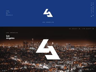 LA Monogram america city brand identity logo design logo identity branding los angeles monogram