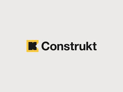 Construkt helvetica neue monogram brand identity identity industry building construction logo