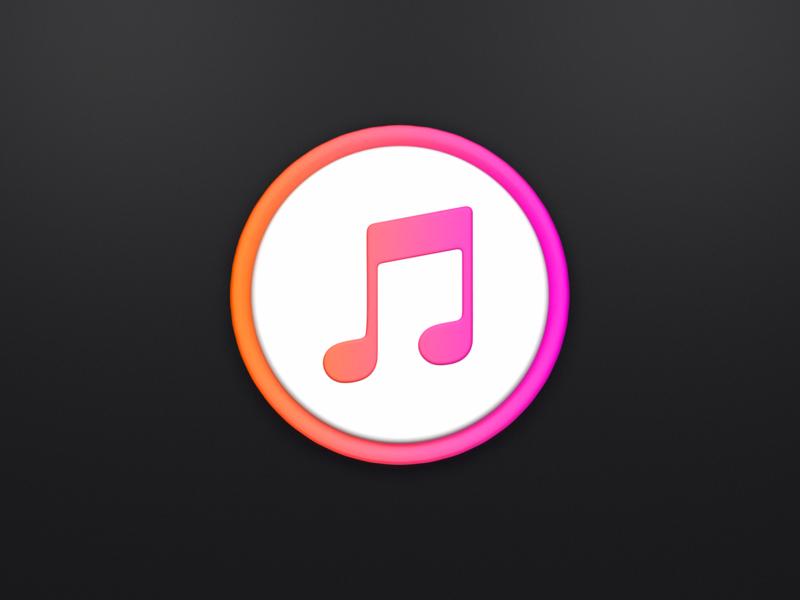 iTunes c4d 3d app icon icon itunes apple