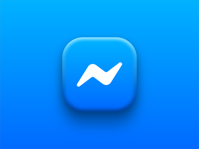 Messenger iconography app icon soft messenger facebook icon