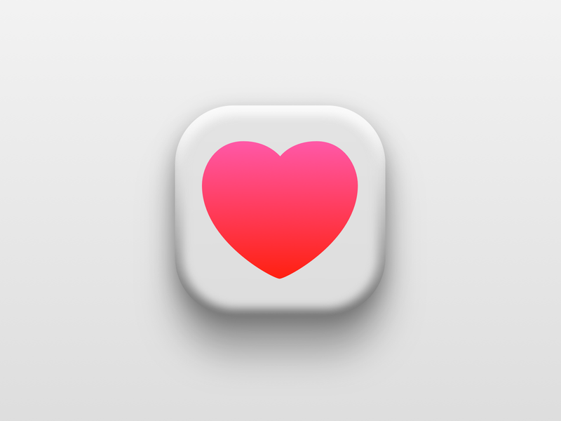 Apple Health apple apple health health heart iconography icon