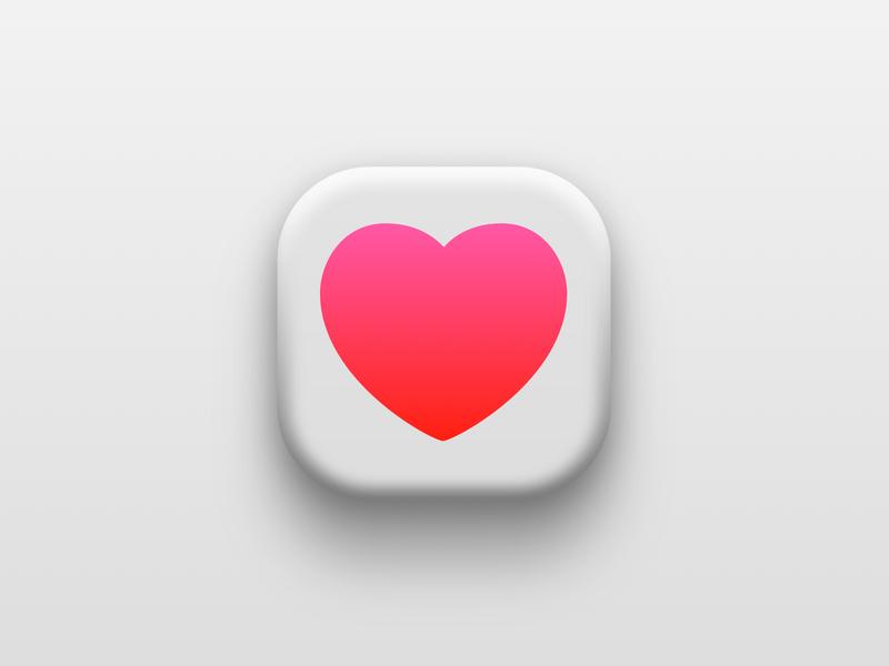 Apple Health apple apple health health heart iconography icon
