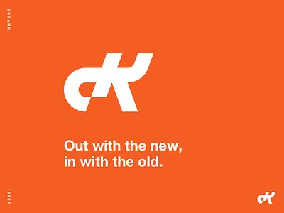 R E V E R T monogram identity brand identity branding logo design logo
