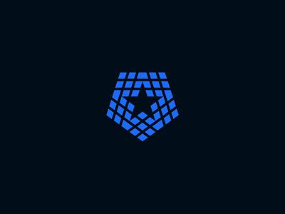 PentaStar idenity brandi identity logo pentagon star penta pentagon star