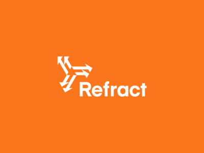 Refract logo design identity brand identity refract refraction direction symbol arrows logo