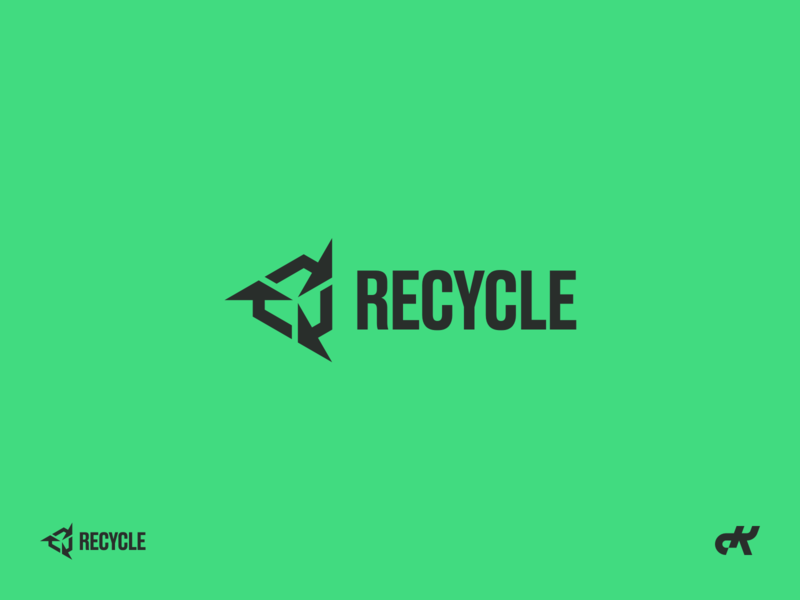 RECYCLE identity brand identity environment caring recycle arrows logo