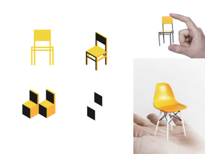 TinyChair brand identity branding warmup furniture chair identity logo