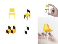 TinyChair brand identity branding warmup furniture chair identity logo
