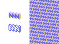 MN Monogram brand identity branding pattern mn logo monogram