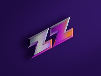 ZZ Render 3d art zz logo neon cinema4d c4d 3d