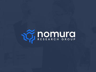 Nomura technology disease protein dna medicine brand identity identity branding science logo