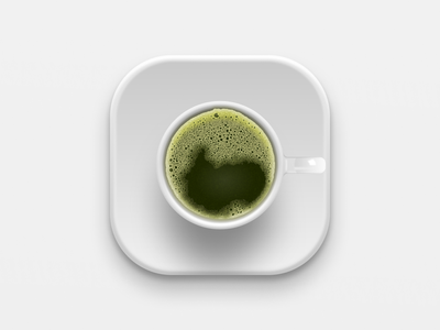 Matcha Green Tea iconography big sur ios vector variants figma icon