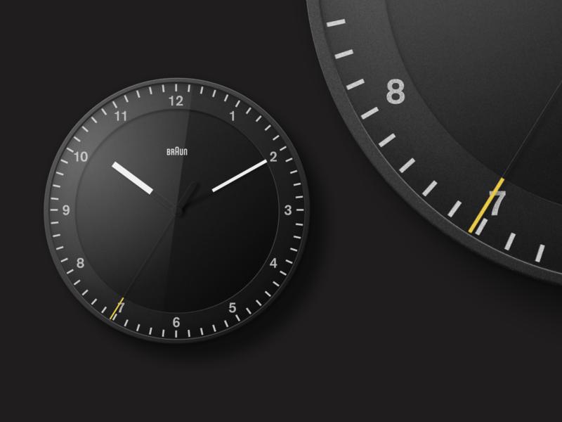 Braun BC17 illustration vector figma analogue classic wall clock clock braun