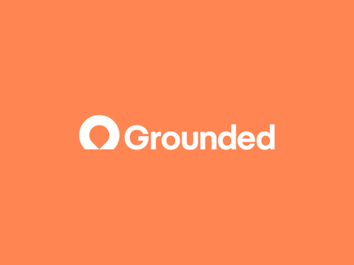 Grounded logotype well grounded location map pin pin map marker logo design identity logo