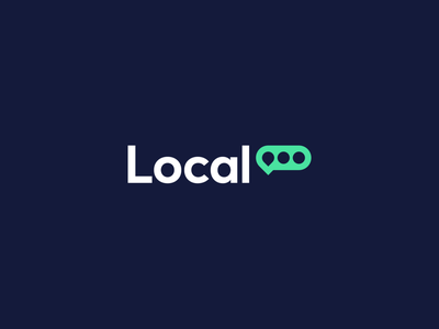 Local brand identity logo speak places map location messaging chat local