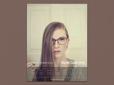 Opticians Magazine Advert advert advertising glasses spectacles opticians magazine