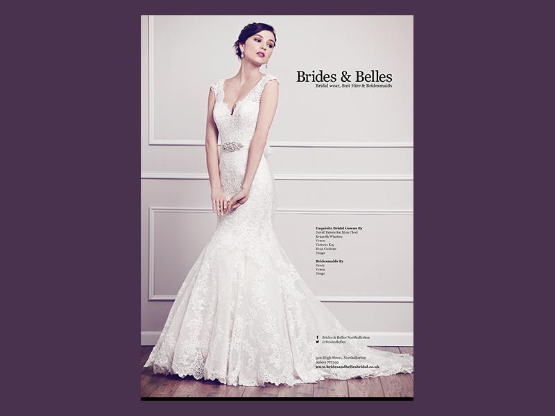 Brides & Belles Advert magazine advert bridal bridal wear wedding dresses